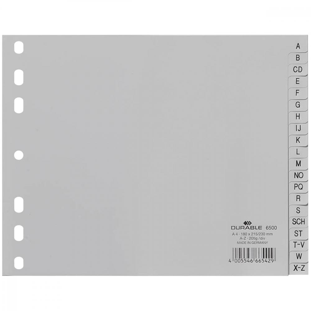Kunststoff-Register A-Z Durable 6500 halbe Höhe