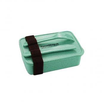 Lunchbox aus Bambusfaser inkl. Besteck