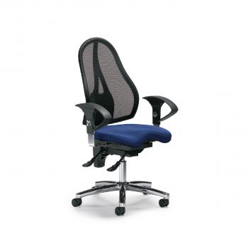 Bürodrehstuhl Sitness 40 NET, schwarz und blau
