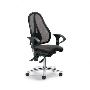 Bürodrehstuhl Sitness 40 NET, schwarz und anthrazit