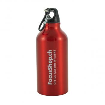 Thermosflasche aus Aluminium , rot