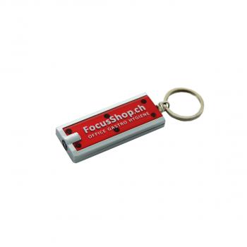 Schlüsselanhänger mit LED-Lampe, rot