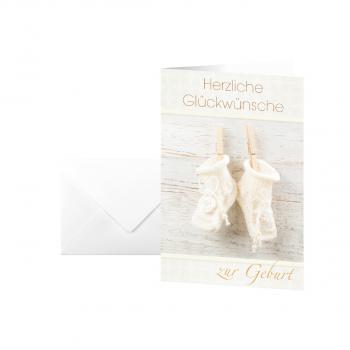 sigel Motiv-Karten, Baby-Glückwünsche, Pack à 10 Karten + 10 weisse Umschläge