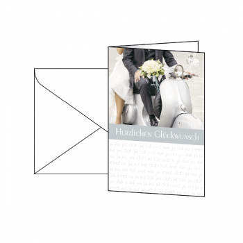 sigel Motiv-Karten, Hochzeit-Glückwünsche, Pack à 10 Karten + 10 weisse Umschläge