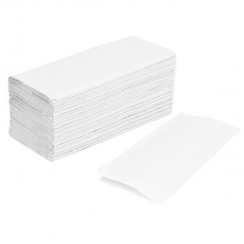 Papierhandtücher Edelweiss 2-lagig, hochweiss, V-Falzung, Karton à 4'000 Stück