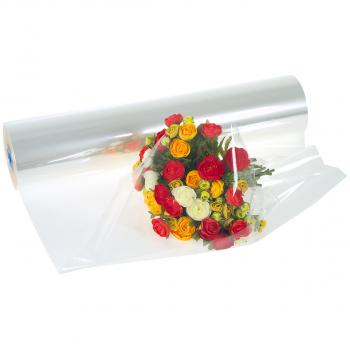 Blumenfolie 100 cm x 500 m, transparent, Stärke 30 Mikron