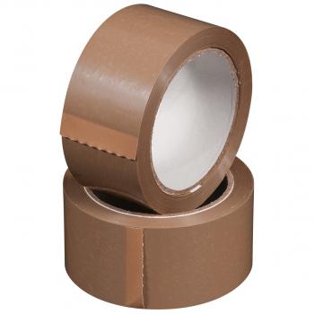 Verpackungsklebebänder PVC, 55 my, braun, 50 mm x 66 m, Pack à 6 Rollen, Karton à 6 Pack