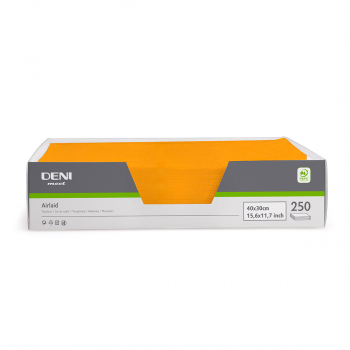 DENI meet Tischset Airlaid, orange, 30x40cm, Pack zu 250 Stück