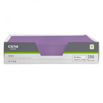 DENI meet Tischset Airlaid, lila, 30x40cm, Pack zu 250 Stück