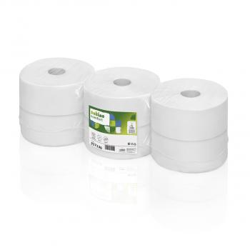 Jumborollen Satino comfort WC Papier 2-lagig, hochweiss, 9.2 x 25 cm, 100% Recycling, Packung à 6 Rollen