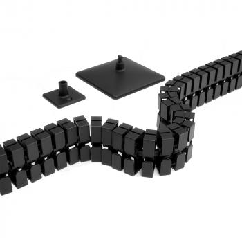 Actiforce Kabelkette SLIM inkl. Standfuss, schwarz