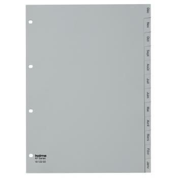Kolma Register KolmaFlex, A4, 12-teilig, Jan.-Dez., grau 18.122.03