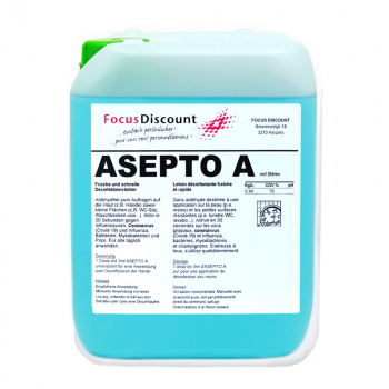 Handdesinfektionsmittel Asepto A, Kanister à 5 Liter