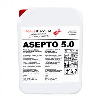 Flächendesinfektionsmittel ASEPTO 5.0, Kanister à 5 Liter