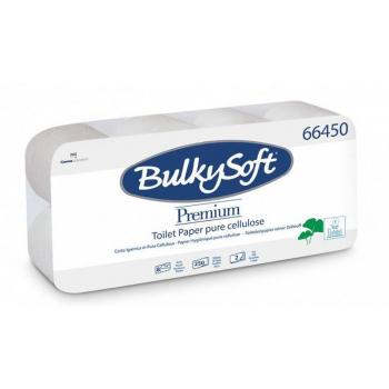 Toilettenpapier BulkySoft, 100% Zellstoff, 2-lagig, 250 Blatt, weiss, Pack à 8 Rollen
