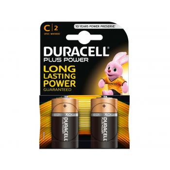 DURACELL Piles Plus C 1.5V, 019089 Baby/LR14/C 2 pcs.