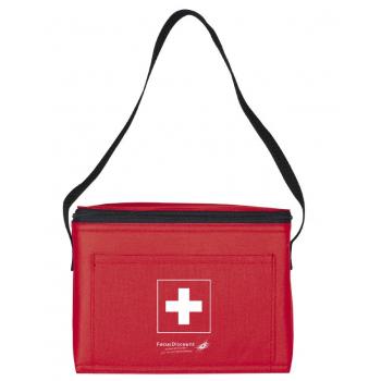 Kühltasche mit Schweizerkreuz, rot, 20 x 14.5 x 15.5 cm