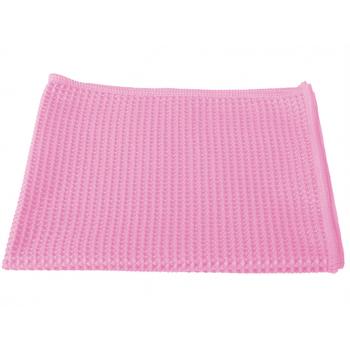 Chiffon gaufré en microfibres 40 x 40cm, rose, 290g/m2, sachet de 5 pièces