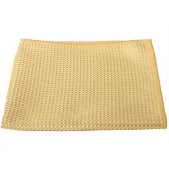 Chiffon gaufré en microfibres 40 x 40cm, jaune, 290g/m2, sachet de 5 pièces