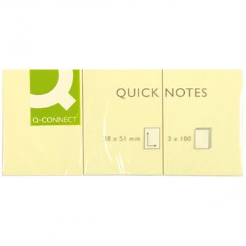 Haftnotizen Q-Connect gelb, 38 x 51 mm, 1 Pack à 12 Blöcke à 100 Blatt, KF10500