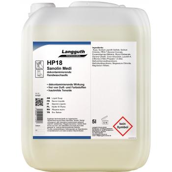 Crème de savon antibactérien Sanolin Medi 5 litres