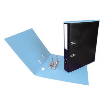 Biella Ordner Black Office PP A4, 4 cm, schwarz / hellblau mit Strong- Mechanik