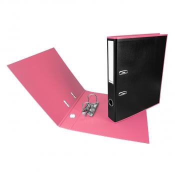 Biella Ordner Black Office PP A4, 4 cm, schwarz / rosa, mit Strong- Mechanik