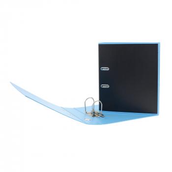 Biella Ordner Black Office PP A4, 7 cm, schwarz / hellblau, mit Strong- Mechanik