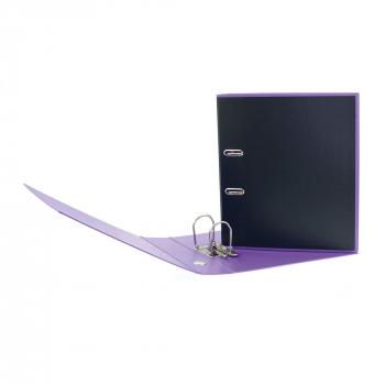 Biella Ordner Black Office PP A4, 7 cm, schwarz / violett, mit Strong- Mechanik