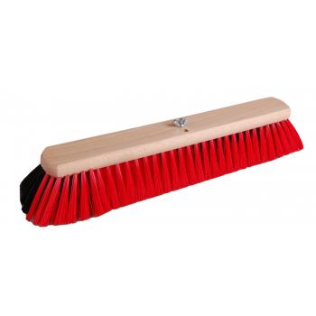 Bodenwischer Holz mit Dual Effekt | schwarz-rot | 40 cm | Buchenholz FSC | Besatz: Rosshaarmischung & Polyester