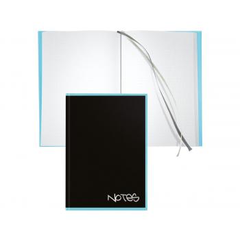 Biella Notizbuch Black Office,14,8 x 21 cm, punktiert, schwarz / hellblau
