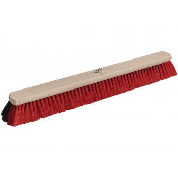 Bodenwischer Holz mit Dual Effekt | schwarz-rot | 60 cm | Buchenholz FSC | Besatz: Rosshaarmischung & Polyester