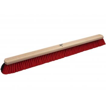 Bodenwischer Holz mit Dual Effekt | schwarz-rot | 80 cm | Buchenholz FSC | Besatz: Rosshaarmischung & Polyester