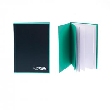 Biella Notizbuch Black Office,14,8 x 21 cm, punktiert, schwarz / türkis