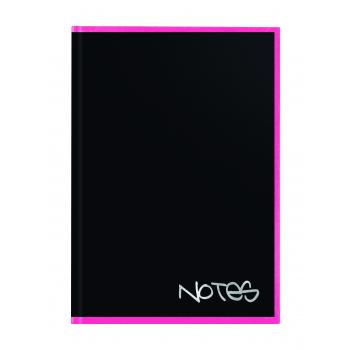 Biella Notizbuch Black Office, 14,8 x 21 cm, punktiert, schwarz / rosa