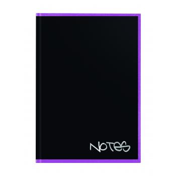 Biella Notizbuch Black Office,14,8 x 21 cm, punktiert, schwarz / violett