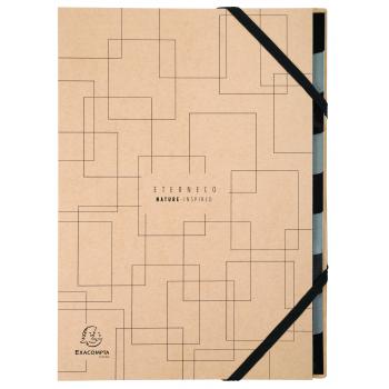 Exacompta Ordnungsmappe Harmonika, A4, 9 Fächer, Serie Eterneco