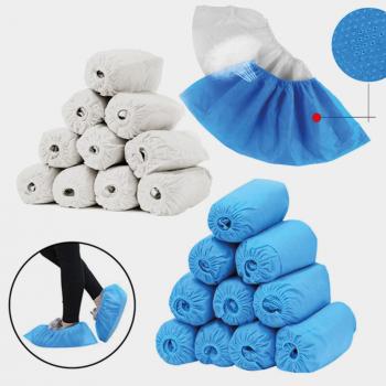 Schuhüberzüge aus PE, 25 g/m2, blau, Bund à 1000 Stück