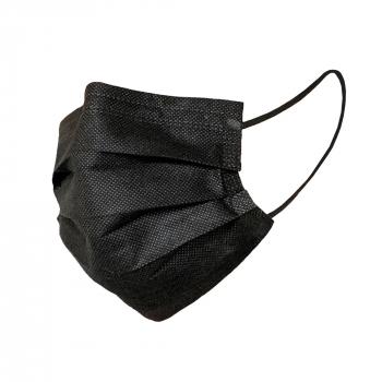 Mundschutz-Maske BLACK MASK, 3-lagig, schwarz TypII