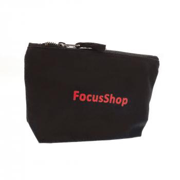 Necessaire schwarz, aus Baumwolle mit Reissverschluss, Gratis für Sie ab einem Bestellwert von CHF 250.- (010850)