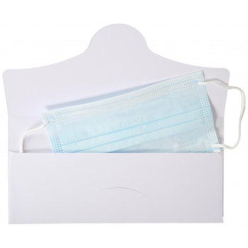 Maskentasche aus Papier, Format C5/6, mit Steckverschluss, 229 x 114 mm, Bund à 10 Stk
