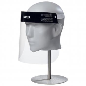 Gesichtsschutzmaske uvex aus PET 0.3 mm | L: 230 mm B: 330 mm | 52g EN166 Cat II