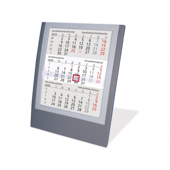 Tischkalender 3-Monate, 2021, SATUREX, 5039-AS d/e/f/i/sp/nl 13 x 17,5 cm
