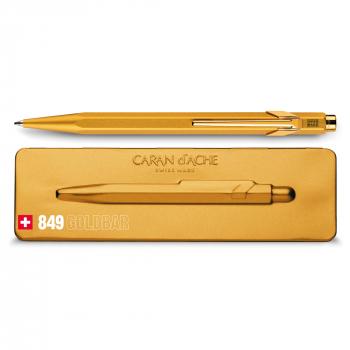 Caran D'Ache Kugelschreiber 849 GoldBar, gold mit Metalletui