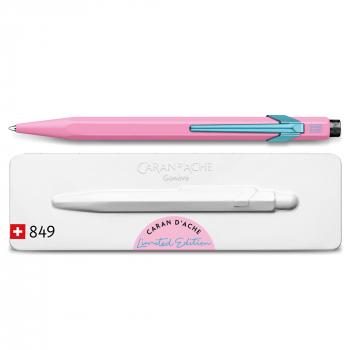 Caran D'Ache Kugelschreiber Claim your Style 849 hibiskusrosa mit Metalletui