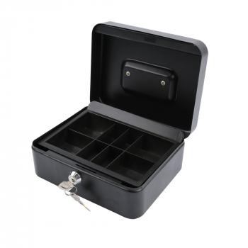 Geldkassette mit Münzzähleinsatz | beigelegter Geldprüfstift schwarz matt | CB700 Plus