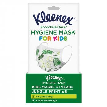 Kleenex Hygienemasken für Kinder, 3-lagig, 5 Masken pro Pack