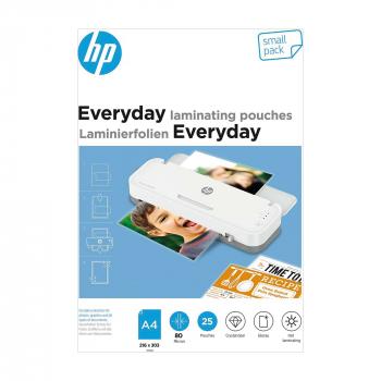 HP Everyday Laminierfolien, A4, 80 Micron, Pack à 25 Stück