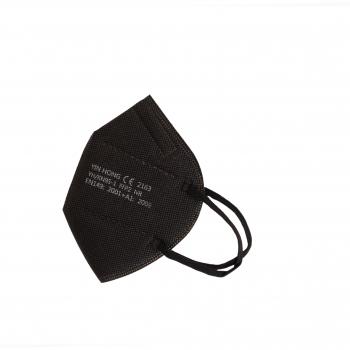 Mundschutzmaske FFP2, schwarz, latexfrei
