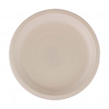 Teller aus Bagasse, weiss, 26 cm, Pack à 50 Stück